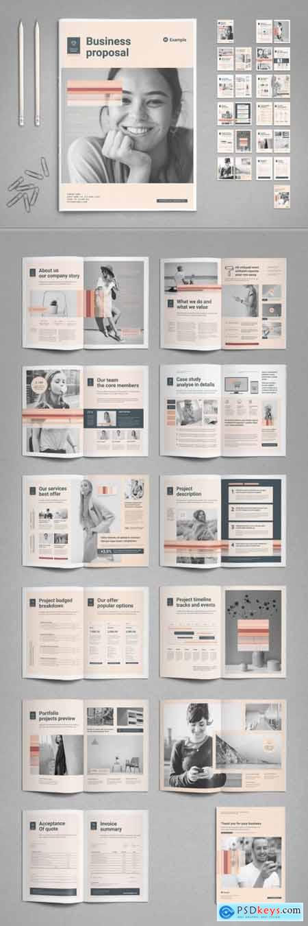 Business Proposal Template with Pale Peach Accents 398328779