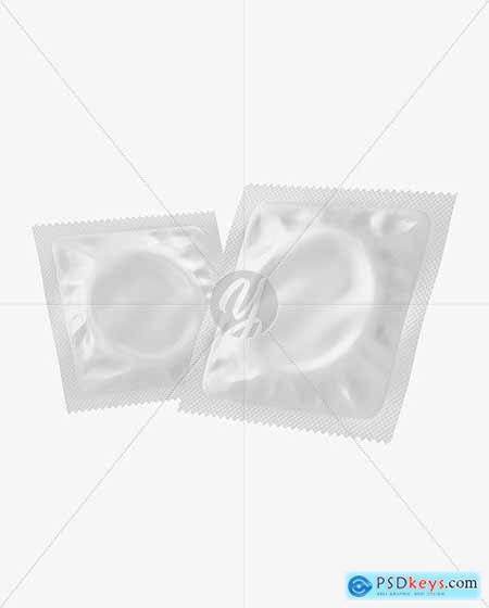 Two Matte Condom Packaging Mockup 70780