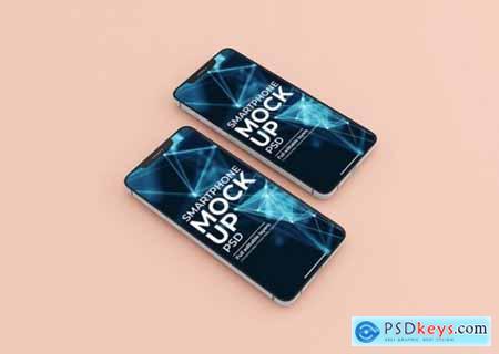 Realistic smart phone screen mockup