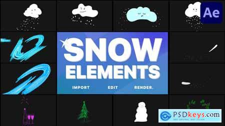 Cartoon Snow Clouds - After Effects 29691753