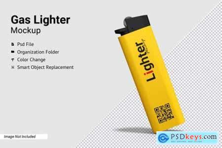 Gas Lighter Mockup