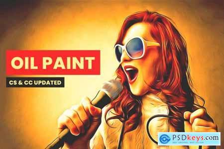 Premium Sharpen Oil Paint Action 5521206