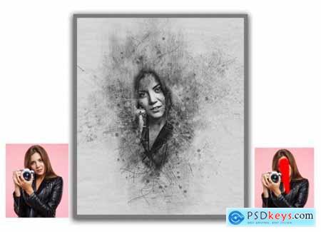 Sketch Portrait Photoshop Action 5552041
