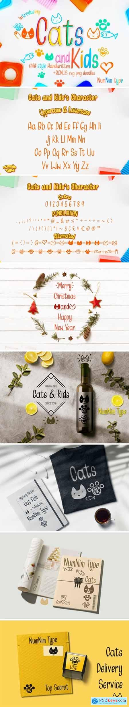 Cats and Kids Font