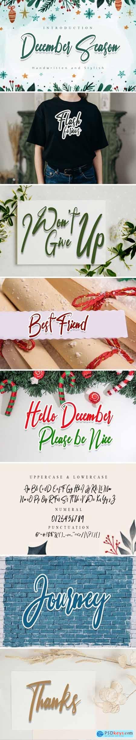 December Season Font