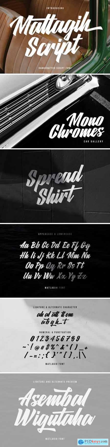 Matlagih Script Font