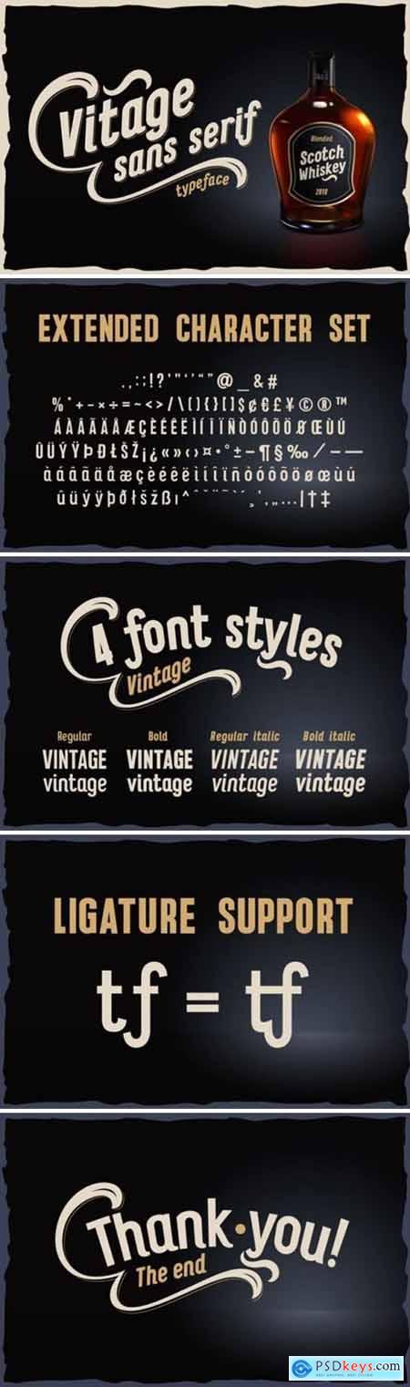 Vitage Font