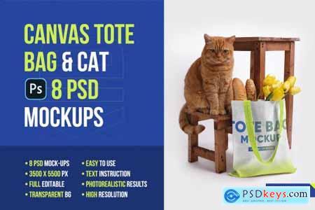 Canvas Tote Bag Mockups Vol 2 5336858