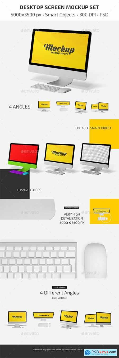 Desktop Screen Mockup Set 29667704