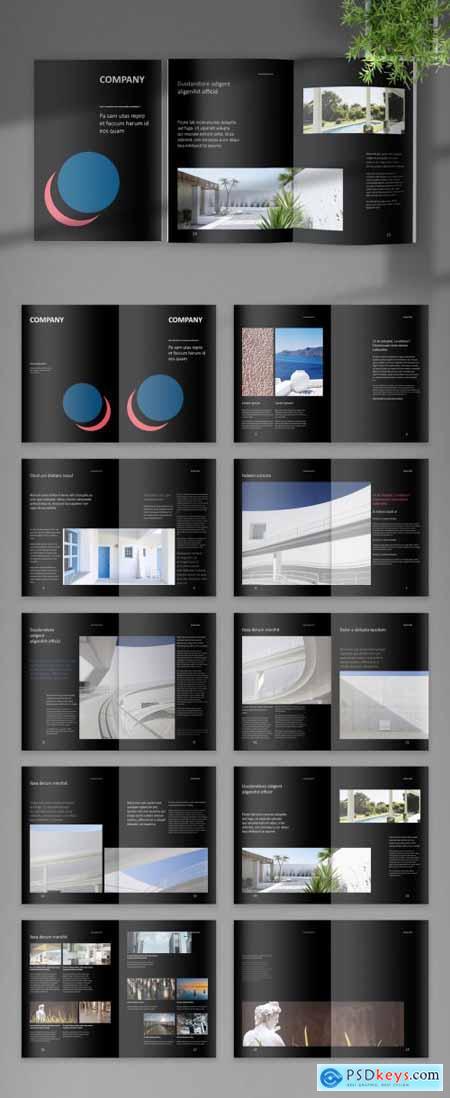 Black Digital Corporate Brochure Layout 393617660