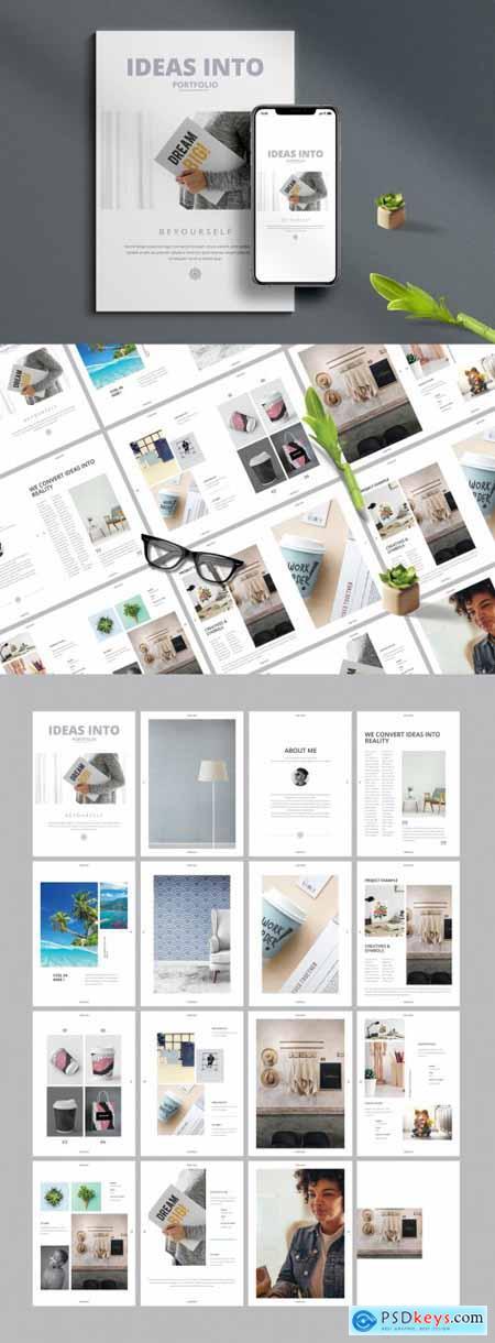 Minimal Portfolio Brochure Layout 394759164