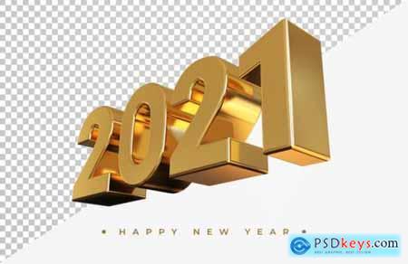 Gold 2021 new year mockup
