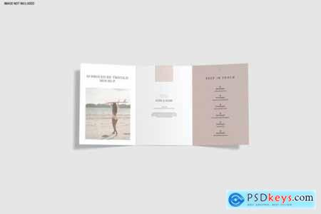 Trifold mockup brochure