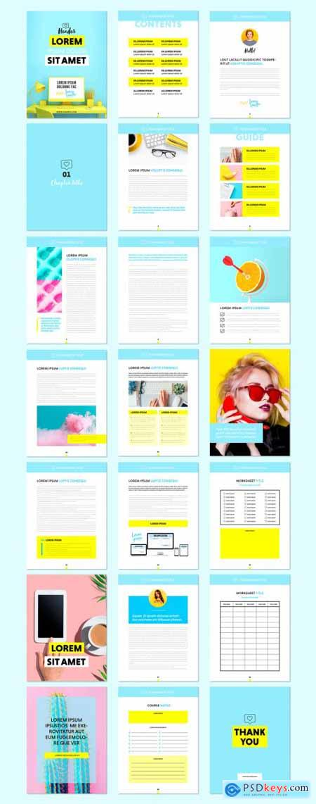 Colorful E-Course Workbook Layout 395364736