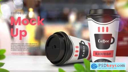 Realistic paper coffee cup mockup