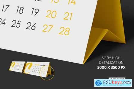 Desk Calendar v02 Mockup Set 5383640
