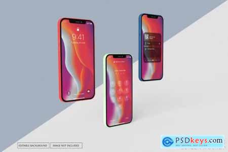 Mockup with multiple different phone