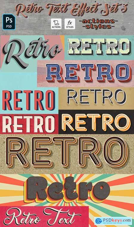 Retro Text Effect Set 3- 10 Photoshop Different Styles 29621607