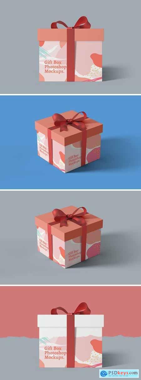 Gift Box Photoshop Mockups