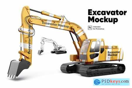 Excavator Mockup
