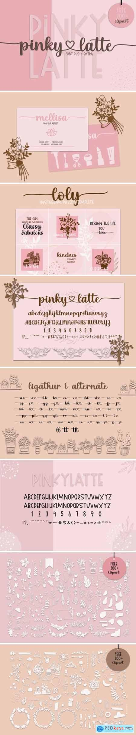 Pinky Latte Font