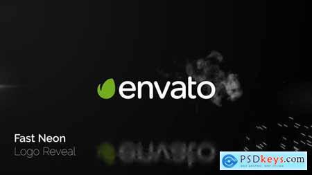 Fast Neon Logo Reveal 23801395