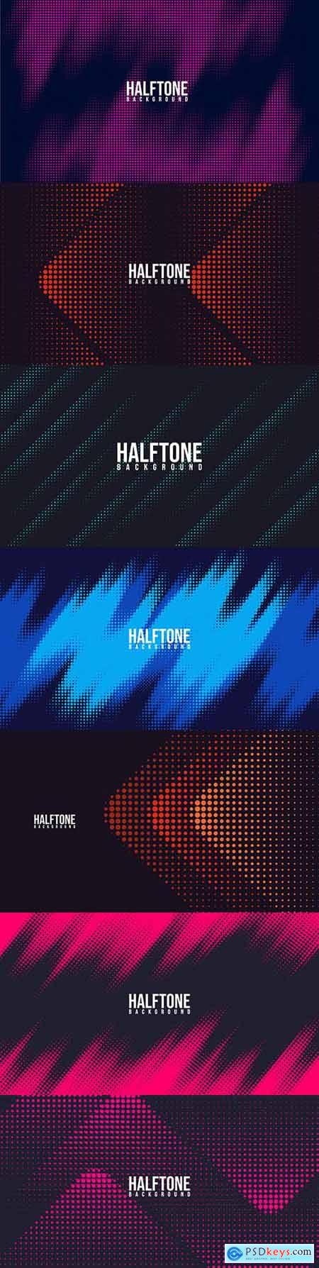 Gradient halftone abstract geometric creative background