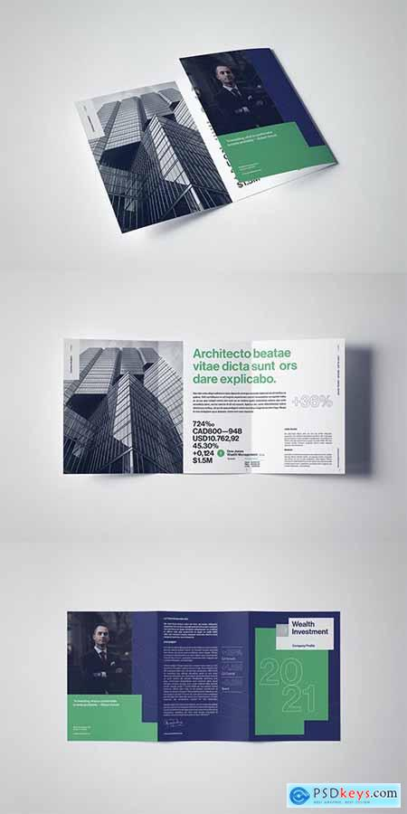 A4 Trifold Corporate Leaflet