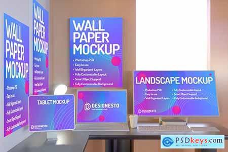 Working Desk – Mockup Template