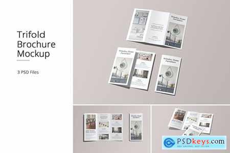 A4 Trifold Brochure Mockup Vol 01