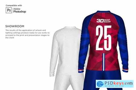 3D Mens Soccer Kit Long Sleeve 5366039