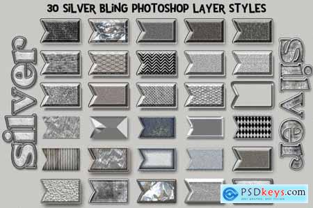 Silver Bling Photoshop Layer Styles 5115002