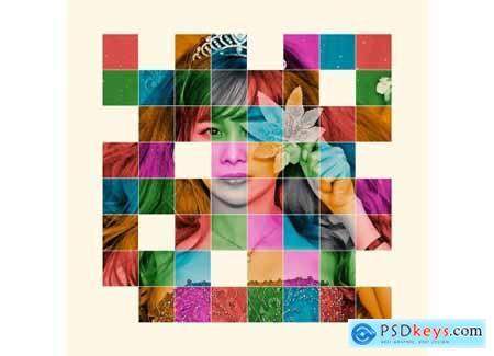 Color Grid Photoshop Action 5421597