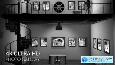 Black and White Photo Gallery in an Industrial style Loft at Night 29724011