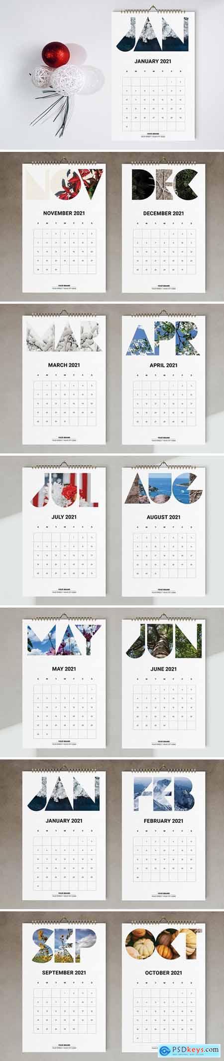 Wall Calendar 2021 Template 5667402