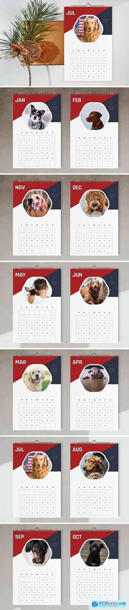 Wall Calendar 2021 Template 5667404