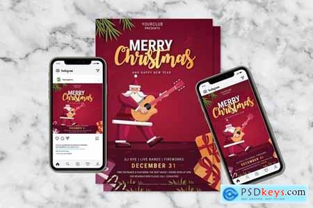 Merry Christmas Flyer & Instagram Post Design