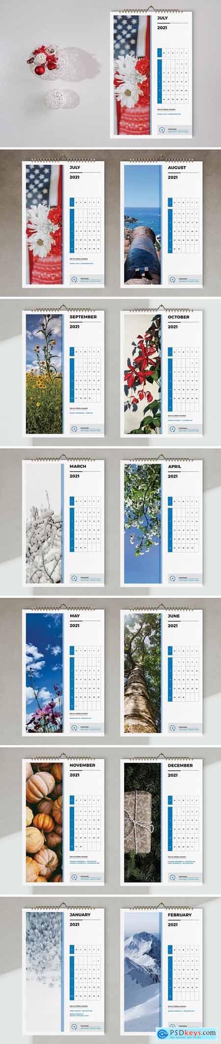 Wall Calendar 2021 Template 5667400