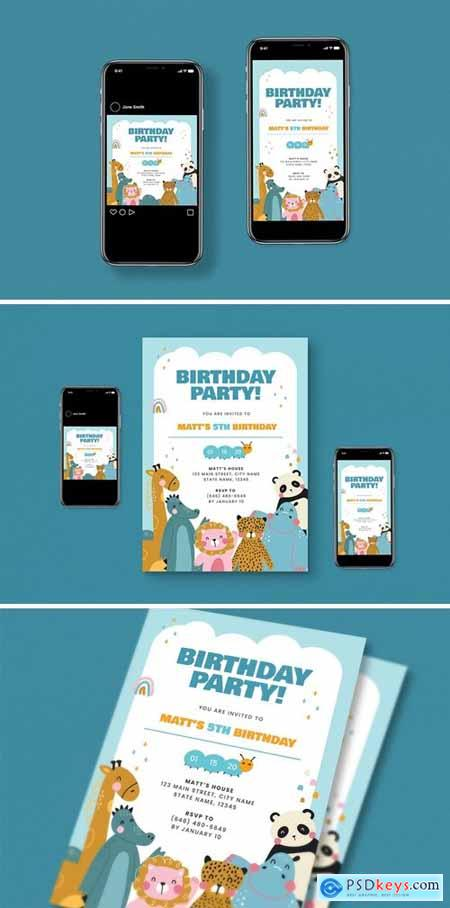 Kids Birthday Party Flyer Pack