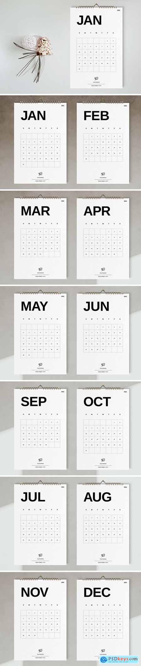 Wall Calendar 2021 Template 5667401