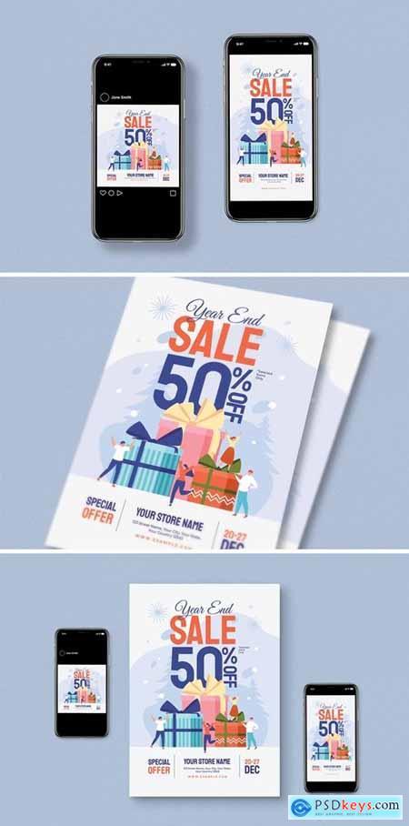 Year End Sale Flyer Set