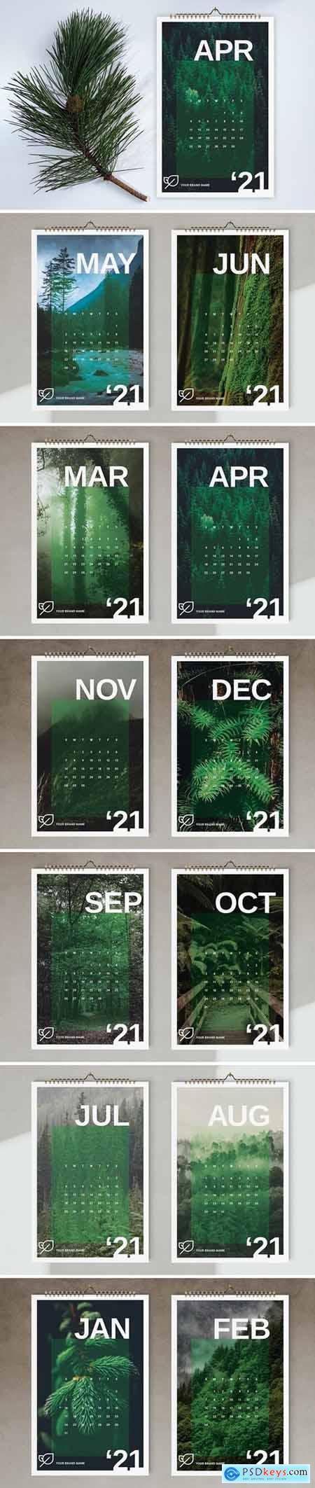 Wall Calendar 2021 Template 5667403