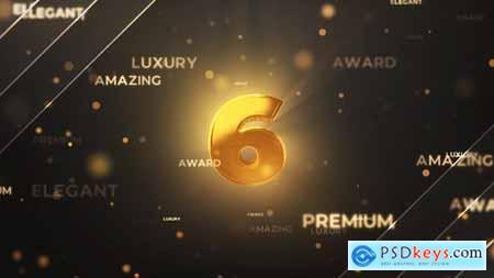 Gold Countdown Intro 29731436