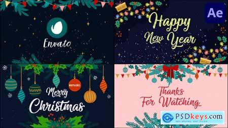 New Year Greetings Slideshow - After Effects 29725180