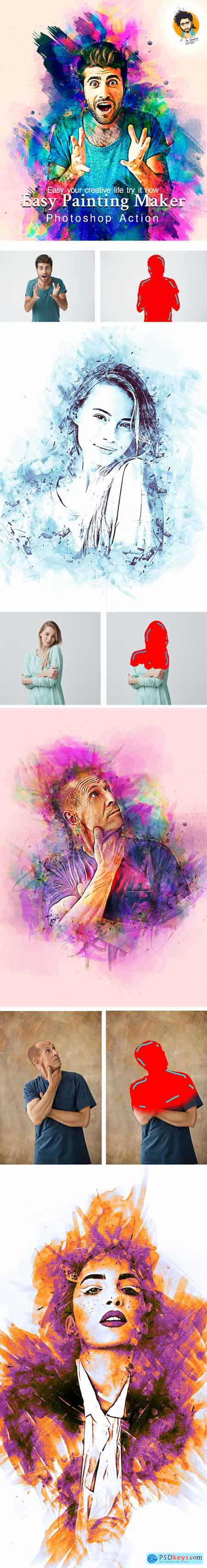 Easy Painting Maker Photoshop Action 28782459