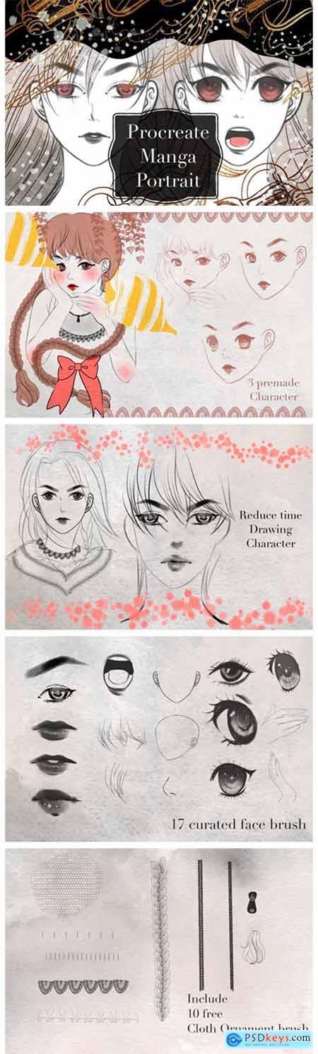 Manga Portrait Procreate Brush 6973941