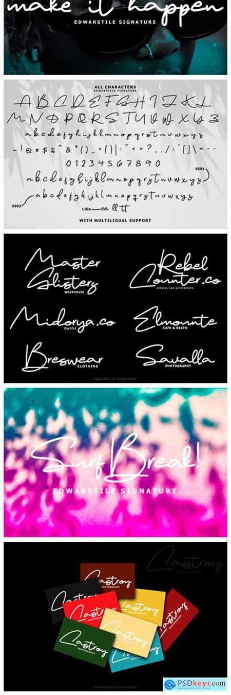 Edwarstile Signature Font