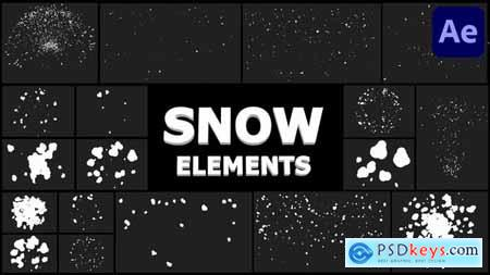 Cartoon Snowflakes Pack - After Effects 29733693