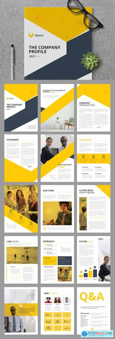 Company Profile Layout with Yellow Accents 394759050
