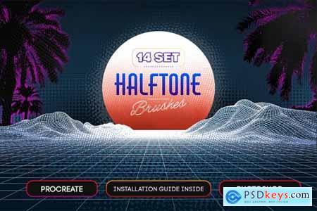 14 Halftone Procreate & PS Brushes 5617688